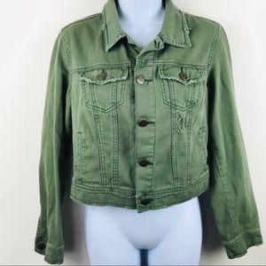 Free People green light denim jacket size 6